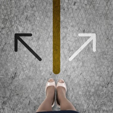 Businesswoman Choosing direction