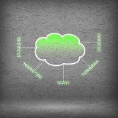 Fotografie Výpočetní oblak obchodní ikony