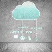 Fotografie Computing cloud business icons