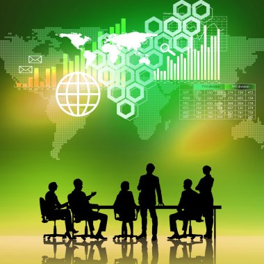 Businessteam at work digital background
