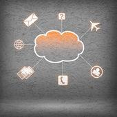 Fotografie Barevné mrak s ikonami podnikání