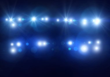 Background with  stage lights