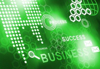 Digital business background