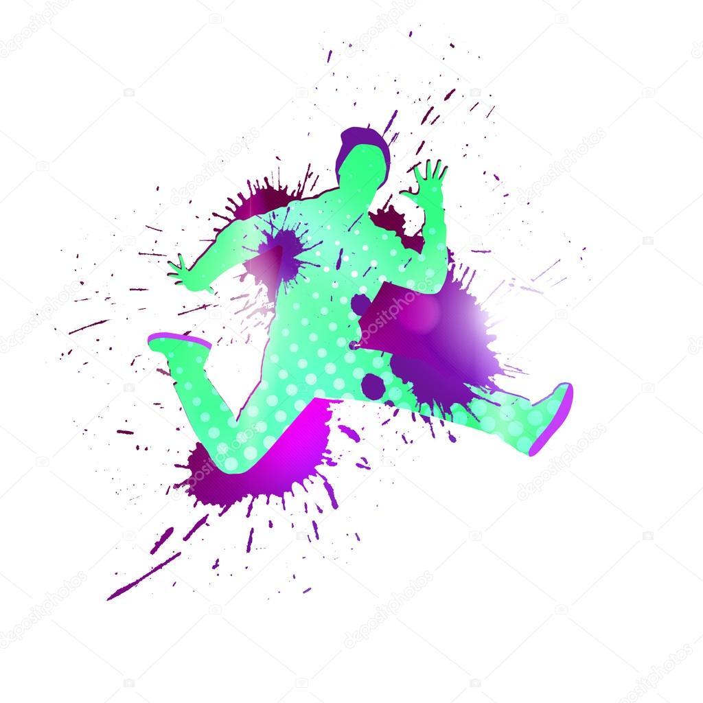 f606a5815a0c7 Imagen con colores silueta de bailarina en fondo blanco - siluetas de  bailarinas de colores — Foto de ...