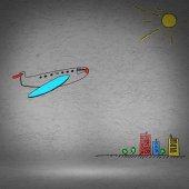 Fényképek repülő készült fal repülőgép
