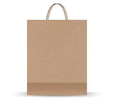 Realistic cardboard package. Craft packaging for takeaway food. Paper package isolated on white background. Realistic mockup. icon