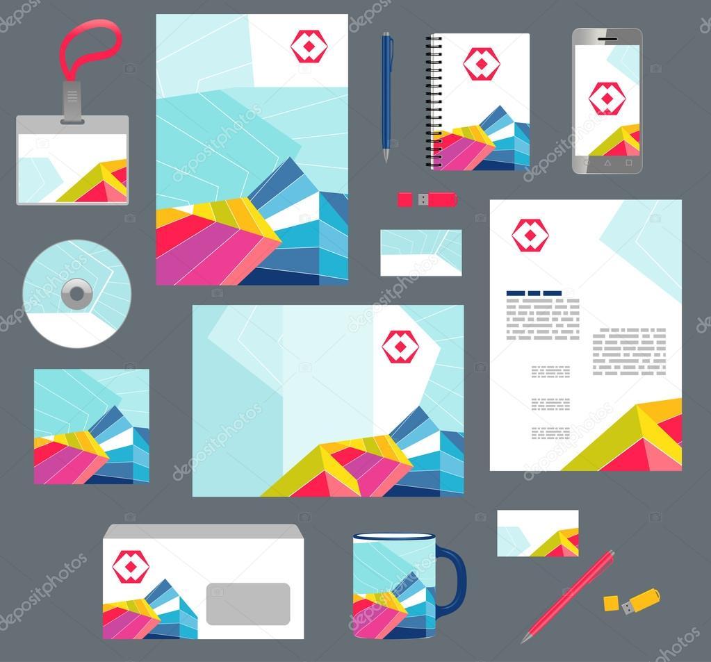 Unternehmen Unternehmen Stilvorlagen. Satz von modernen abstrakten ...