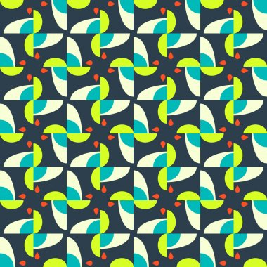 Abstract seamless pattern motif background. Geometric colorful s