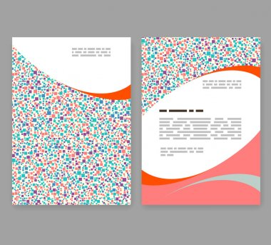 Flyer, leaflet, booklet layout. Editable design template. A4 2-f