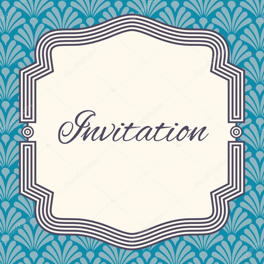 Plantilla invitación, boda o tarjetas de felicitación. Elegante ...