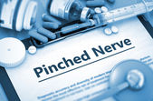 Fotografie Pinched Nerve Diagnosis. Medical Concept.