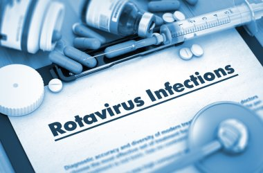 Rotavirus Infections. Medical Concept.