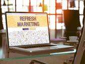 Refresh Marketing Concept on Laptop Screen.