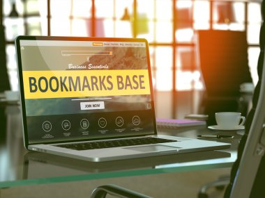 Laptop Screen with Bookmarks Base Concept.