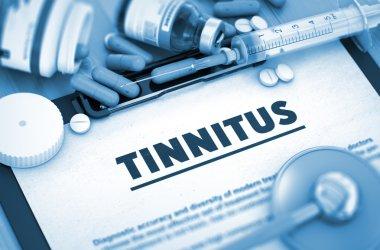 Tinnitus Diagnosis. Medical Concept. Composition of Medicaments.