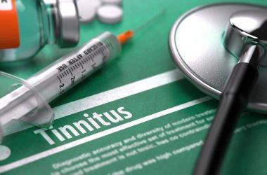 Diagnosis - Tinnitus. Medical Concept.