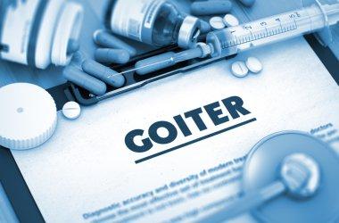 Goiter Diagnosis. Medical Concept.