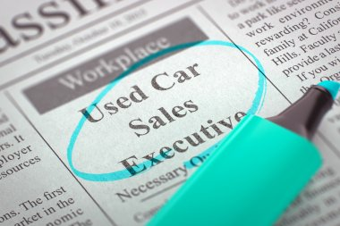 We are Hiring Used Car Sales Executive.