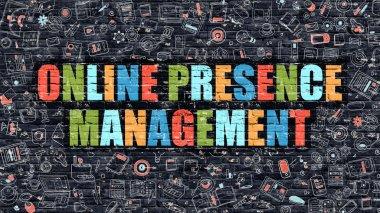 Online Presence Management on Dark Brick Wall.