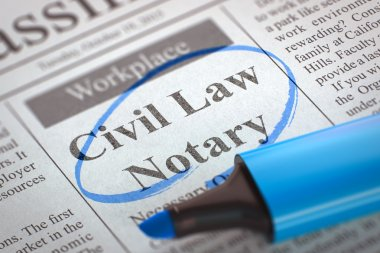 Civil Law Notary Job Vacancy.