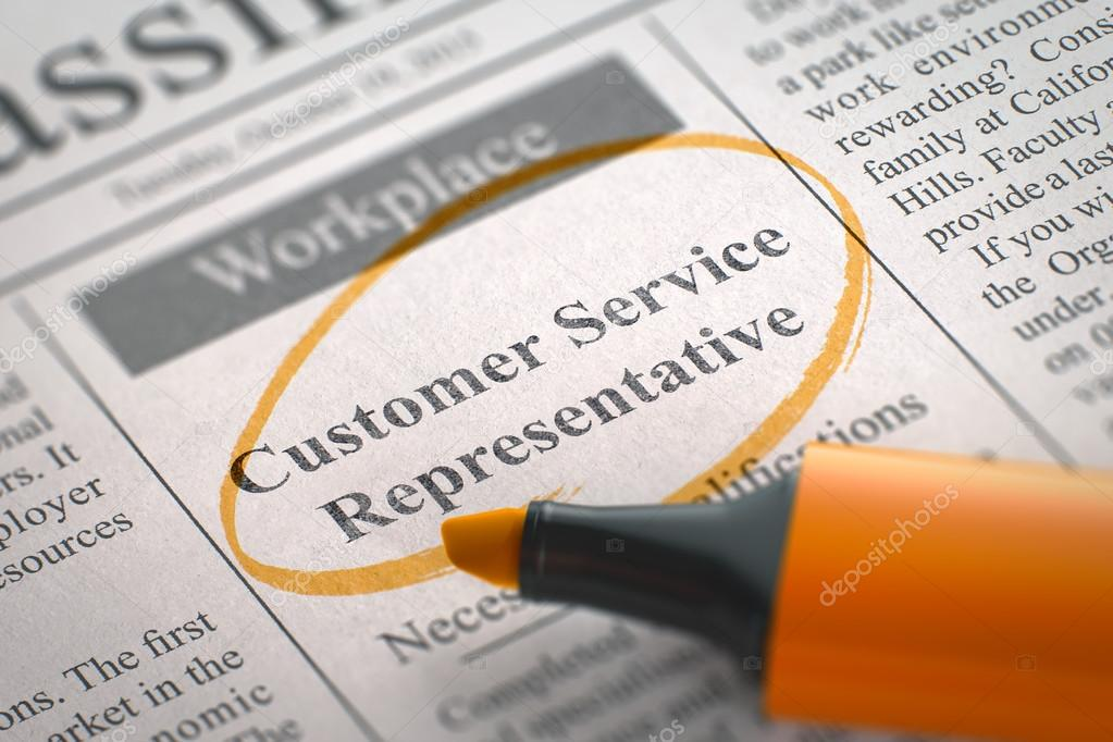 Were Hiring Customer Service Representative Stock Photo