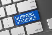 Blue Business Statistics Button on Keyboard.