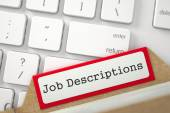 Fotografie Index Card with Inscription Job Descriptions.