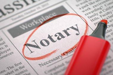 Were Hiring Notary. 3D.