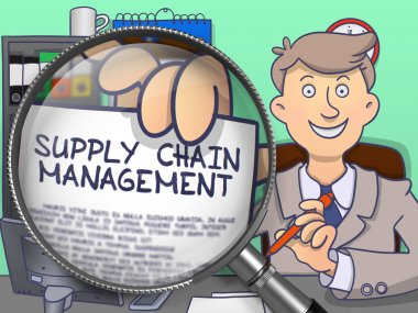 Supply Chain Management through Lens. Doodle Style.