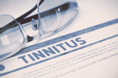 Diagnosis - Tinnitus. Medical Concept. 3D Illustration.