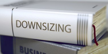Downsizing - Book Title. 3D.