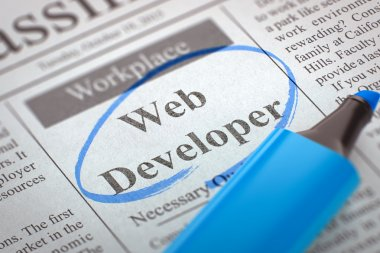 Were Hiring Web Developer. 3D.