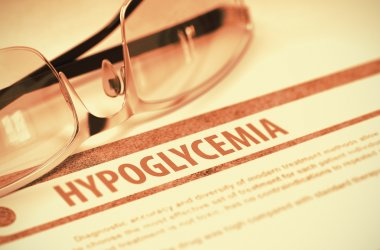 Diagnosis - Hypoglycemia. Medicine Concept. 3D Illustration.