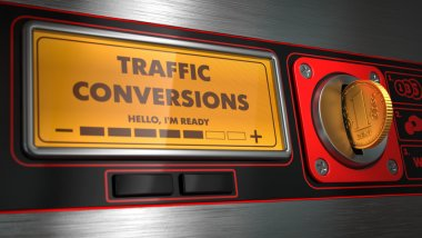 Traffic Conversions on Display of Vending Machine.