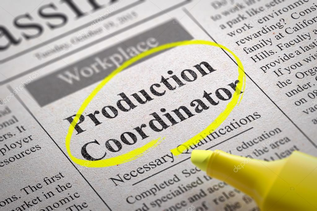 Production Coordinator Jobs in Newspaper.