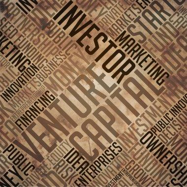 Venture Capital - Grunge Brown Word Collage.