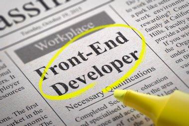 Front-End Developer  Vacancy in Newspaper.