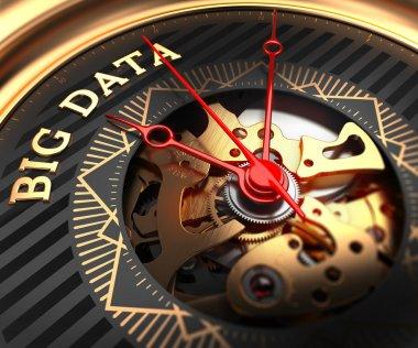 Big Data on Black-Golden Watch Face.