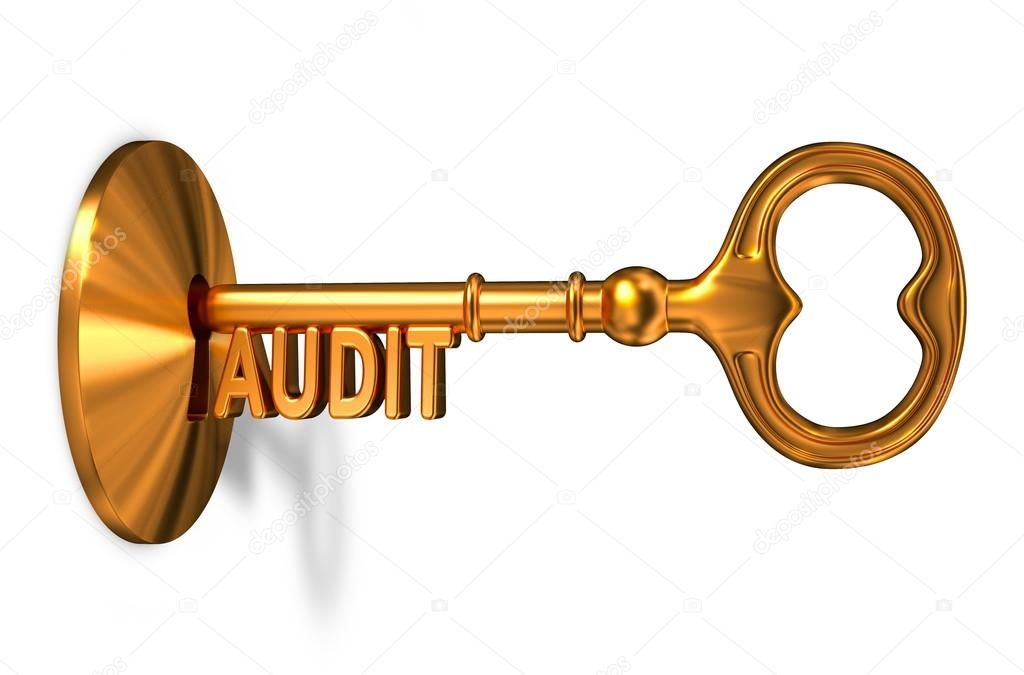 Audit - Golden Key is Inserted into the Keyhole.