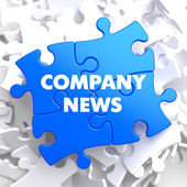 Fotografie Unternehmensnews auf blau-Rätsel
