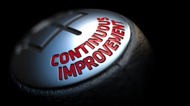 Continuous Improvement. Shift Knob. Concept of Influence.