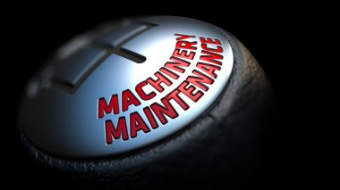 Machinery Maintenance. Gear Lever. Control Concept.
