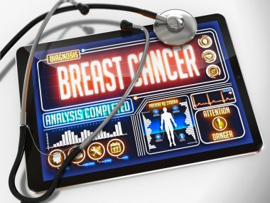 Breast Cancer on the Display of Medical Tablet.