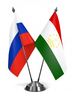 Russia and Tajikistan - Miniature Flags.