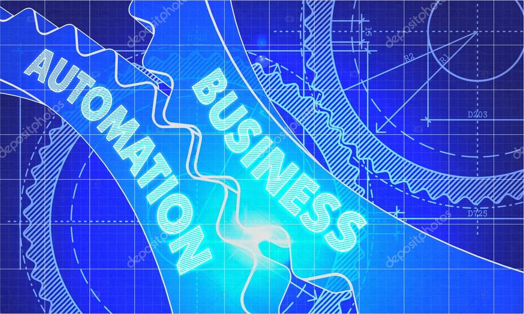Business automation on blueprint of cogs stock photo business automation on blueprint of cogs technical drawing style 3d illustration with glow effect photo by tashatuvango malvernweather Image collections