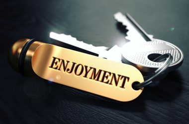 Enjoyment written on Golden Keyring.