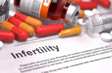 Diagnosis - Infertility. Medical Concept. 3D Render.