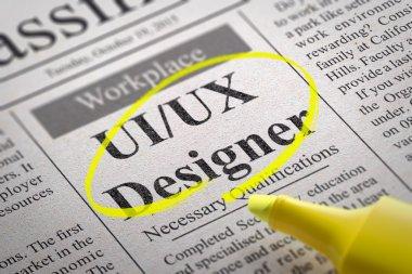 UI-UX Designer Jobs in Newspaper.