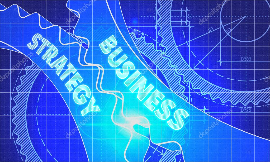 Business strategy on the gears blueprint style foto de stock business strategy on the gears blueprint style malvernweather Image collections