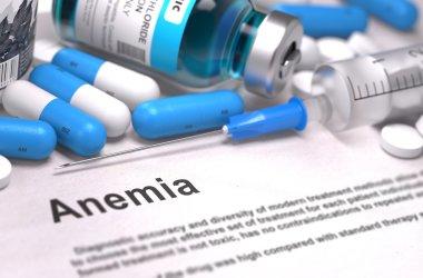 Anemia Diagnosis. Medical Concept. Composition of Medicaments.